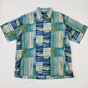 Tori Richard Geometric Hawaiian Shirt XL